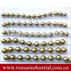 Fashion novelty various sizes color brass ball chain