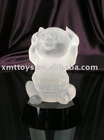 crystal pig figurine in 10cm as valentine day's gift