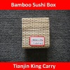 different size and color bamboo sushi box