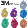 3M Noodle Flat USB Sync Data Charger Cable Cord For Iphone 3G 3GS 4G 4S Ipod Touch 4th Ipad 2 The New Ipad 3rd