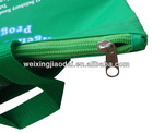 420D green blue nylon shopping bag beach bag tote bag for teenager to hold books with zipper