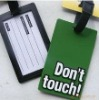 promotional pvc luggage tag, luggage lable