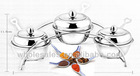Apple shape stainless steel condiment set