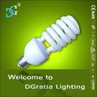 High lumen tri-color 23W 8000H Half spiral energy saving lamp