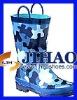 latest design blue rain boots