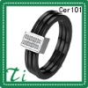 Cer101 Black Ceramic & Shinning Crystal Drill stainless steel rings jewelry