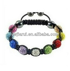 BR348 costume jewelry shamballa beads wholesale bangle bracelet import china items crystal charm bracelet shamballa bracelets