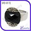 Fashion jewelry Black gemstone crystal wedding ring