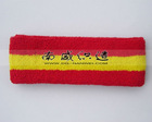 Plain Sweatband Sport Headband SB0040 Red and Yellow