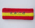 Plain Sweatband Sport Headband SB0040 Red and Yellow