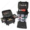 Nylon cosmetic trolley bag, nylon beauty trolley bag, soft cosmetic trolley case (SD1010)