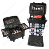 Nylon cosmetic trolley bag, nylon beauty trolley bag, soft cosmetic trolley case (SD1010)