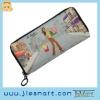 JSMART long wallet shopping girl animated design MOQ FREE