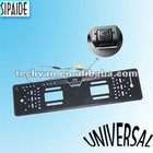 Metal European License Plate Frame & HD Camera