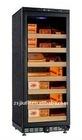 320L 1100pcs electric compressor wooden grain constant temperature and humidity display with glass door luxury cigar humidor