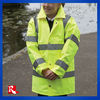 children EN471 hi-viz yellow project jacket, reflective protective padded coat,hi-viz padded parka