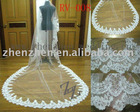 2011 customized real-mde one layer, tille with lace applique edge bridal veil RV-008