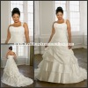 Al-w3841 New Elegant One Shoulder Taffeta Plus Size Wedding Gown