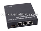 HDMI Extender 100M, Extend HD AV and Ethernet to 100m Over One Cat5e/6 Cable
