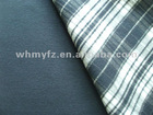 cheap yarn dyed T/R 90/10 white black check plaid double face fabric for clothes garment new design