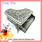 carving vintage metal jewelry box (A-562)