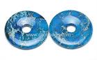 Blue Impression Jasper Donut Pendants
