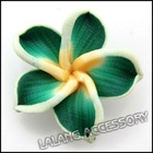new wholesale and hot sale Green Polymer Clay Flower beads DIY for bohemian apparel 110582