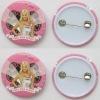 Popular goods plastic pin badge OEM LOGO for promotion gift