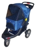 "3 Wheels Deluxe Jogging Pet Stroller W/12"" Terrain EVA Tires"