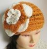 soft Handmade Flower Crochet Knitted Headband headwrap ear-warmer