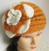 soft Handmade Flower Crochet Knitted Headband headwrap ear-warmer