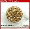 Gold shamballa crystal disco ball beads wholesale