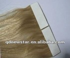 taped hair extesnion / PU hair /skin hair