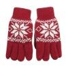 women jacquard gloves