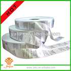 satin fabric garment wash care labels