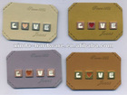 65*45mm Fashion Metal and PU labels for garment and Jeans