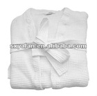 hotel 100%cotton waffle bathrobe with kimono or shawl style
