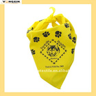 silk-screen printed pet bandana(YXCAF-119266)