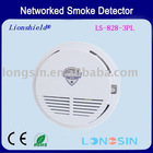 Auto reset Networked battery operated photoelectric smoke detectors(DC12V)