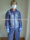 non-woven,one time ,protective lab clothes