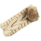 fashion cable knitted headband w/pompom