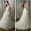 2012 Newly Arrivals A-line Sweetheart White Silky Organza Modern Wedding Gowns