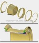 Steel wheel rim for heavy duty 5 piece construction wheels