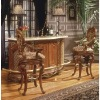 European carving wooden style bar table& bar chairs