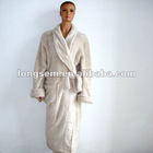 100% polyester micro plush Long robe