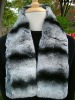 Black rex rabbit fur scarf-winter scarf