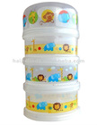 plastic 3-layer baby milk powder container