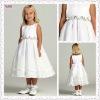 3034-1hs Lovely Fairy Tea Length Big Bowknot Back new cotton flower baby girl dresses