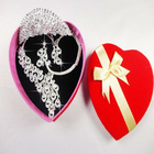 Hot Coming 2012 Beautiful Rhinestone Wedding Necklace And Earring Cron Sets NXL-005