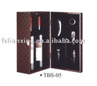 newest wine wooden box with accessory for two bottles